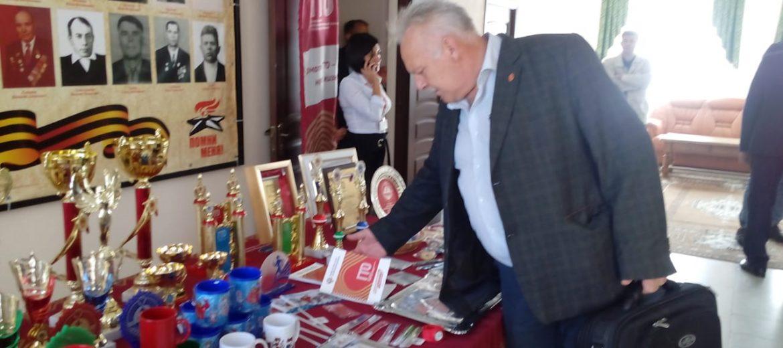 Обновленная экспозиция атрибутики ГТО на заседании коллегии минспорта Ставрополья