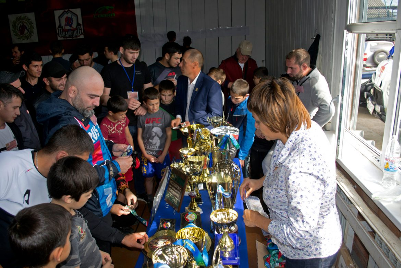 Экспозиция «Сан-Сан» на турнире команд регионов Северного Кавказа по ММА Free Fighting