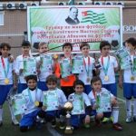 Победители футбольного турнира памяти Валерия Делба в Абхазии отмечены наградами от «Сан-Сан»