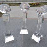 Призы из оптического художественного стекла от «Сан-Сан» для премии «Человек года 2020» в Пятигорске