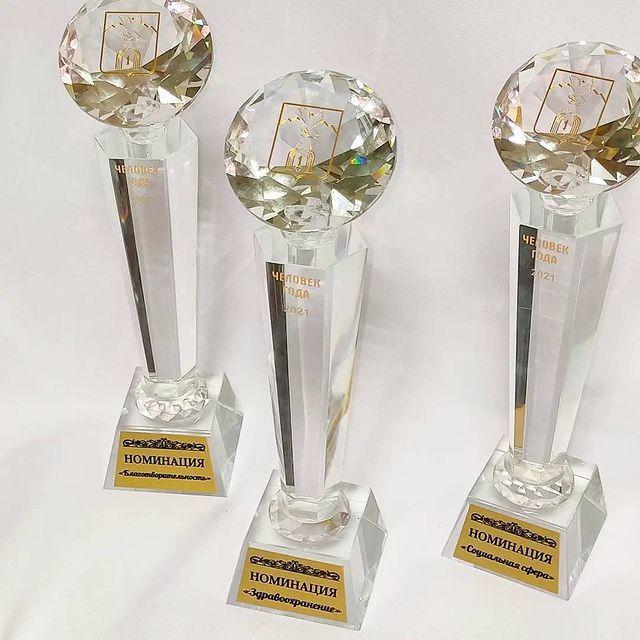Награды для лауреатов премии «Человек года - 2021» в г. Пятигорске